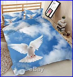 Dove Flying High 3D Printing Duvet Quilt Doona Covers Pillow Case Bedding Sets