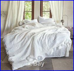 Duvet Cover Set 100% White Washed Linen French Country Premium Quality RRP£205