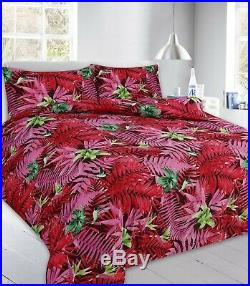 Duvet Cover Set with Pillow Cases King Size Double Super Single Printed Bedding