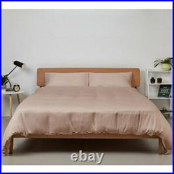 Duvet Cover and Pillow Case Set, 100% Bamboo in Vintage Pink, Double Panda