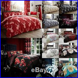 Duvet/Quilt Cover Set With Pillow Case Bedding Set Single Double King Christmas