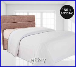 Duvet Quilt Cover set PERCALE Quality 180TC 50/50 Poly Cotton 4 Sizes White only