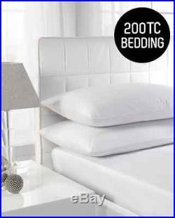 Duvet Quilt Cover set PERCALE Quality 200TC 100% Cotton 4 Sizes White only Packs