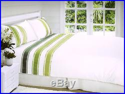 Embellished Duvet Quilt Cover Set Green Double And King Size Available New