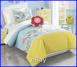 FRANK AND LULU HAPPY VALLEY Full Size 4 PIECE COMFORTER SET/ PILLOW GIRLS