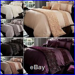 Fabian Duvet Quilt Cover Bed Set with Pillowcase Single Double King Super King