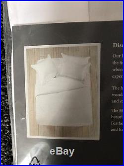 Feather & Black Hotel Collection Double Bedding Duvet Set White