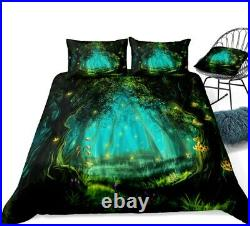 Forest Tree Nature Floral King Double Single Quilt Duvet Pillow Cover Bed Set