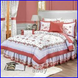 Galicia White Floral Reversible Comforter Set and Sheet Set by Intima Hogar