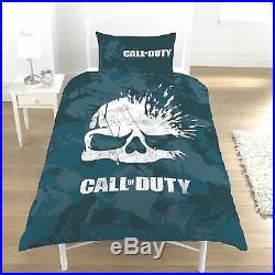Game Call of Duty COD Skull Character Bedding Duvet Cover Reversible Double Set