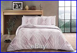 Gina Pink Bedding Duvet Cover Set, Glow In the Dark 100% Cotton Full Double 4Pcs