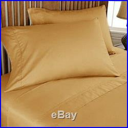 Gold solid UK-Small Double Size 1000 Thread Count Deep Pocket Bedding Items
