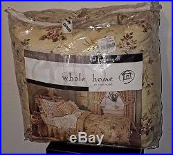 Harmony Collection Whole Home Full Comforter Set Colebrook Floral design NIP