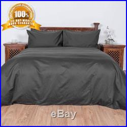 Homescapes Luxury Double Dark Charcoal Grey Egyptian Cotton Duvet Cover Set