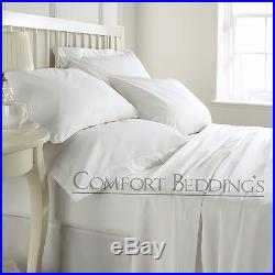Hotel Collection 800 1000 1200 1500 Thread Count White Solid 100% Cotton UK Size