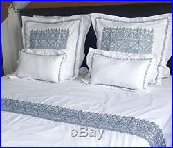 Ilham's MZIWNA Double Bed Duvet Cover Set Traditional Moroccan Embroidery + 2