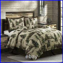 Joshua Woodsy Nature Pine Tree Country Lodge Cotton Full 3-Piece Bed Set