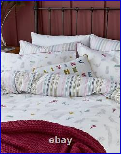 Joules Cotton Duvet Cover Set With Matching Oxford Pillowcases Chalk
