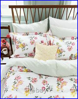 Joules Cotton Duvet Cover Set With Matching Oxford Pillowcases Chalk Floral