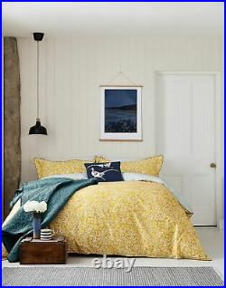 Joules Cotton Duvet Cover Set With Matching Oxford Pillowcases Gold Ditsy