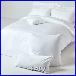 King White Solid 5 Pieces Duvet Cover Set 1000 Thread Count 100% Egyptian Cotton