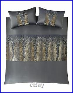 Kylie Minogue bedding, KILA Gunmetal Grey Bed Set, Duvet cover, Pillowcases