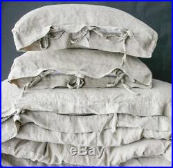 LINEN DUVET COVER set of duvet cover and pillowcases with ties