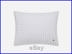 Lacoste Home Doubles Collection King Guethary 3Pc Comforter & Shams Set White