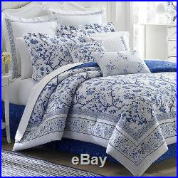 Laura Ashley Charlotte 4-Piece Comforter Set, Cotton, Twin/Full/Queen/King