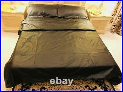 Leather Bedsheet Soft sheep Real Black NAPPA leather Bedsheet & Pillow Cover set