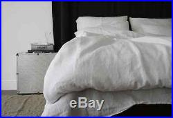 Linen duvet cover French style set softened, designed and made by mooshop! Perf