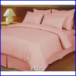 Luxurious Bedding Collection 1000 TC Egyptian Cotton Pink Striped-All UK Sizes