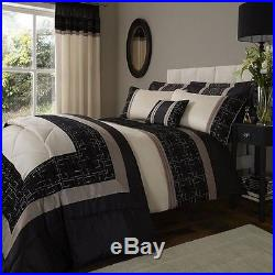 Luxury GEO Embellished Duvet Cover Bedding Set By Catherine Lansfield & Optinal