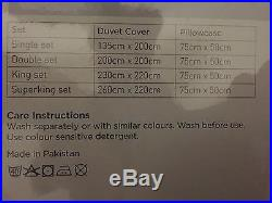 Luxury Hotel Collection 500 Thread Count White Double Duvet Cover Set RRP £230