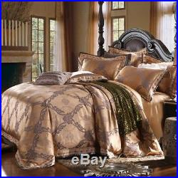 MAJESTY 4-Piece Luxury Sheets Bronze Duvet Cover Set, Queen, Double/Full