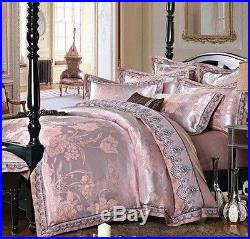 MAJESTY 4-Piece Luxury Sheets Duvet Cover Set (Double/Full, Queen)