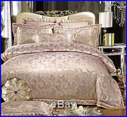 MAJESTY 4-Piece Luxury Sheets Duvet Cover Set Gold (Double/Full, Queen)