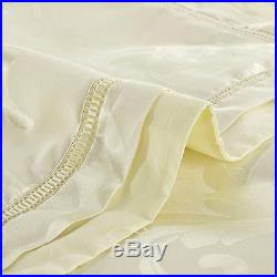 MAJESTY 4-Piece Luxury Sheets Duvet Cover Set Satin Creme (Double/Full, Queen)