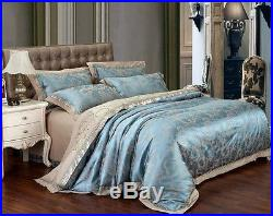 MAJESTY 4-Piece Luxury Sheets Turquoise Duvet Cover Set, Queen, Double/Full