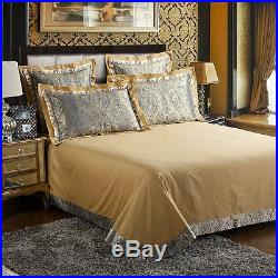 MAJESTY Bedding 4-Piece Luxury Sheets Duvet Cover Set (Double/Full, Queen)
