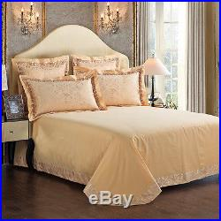 MAJESTY Bedding 4-Piece Luxury Sheets Gold Duvet Cover Set (Double/Full, Queen)