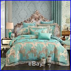 MAJESTY Bedding Collection Luxury Duvet Cover Set (Double/Full, Queen) Turquoise