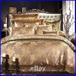 MAJESTY Collection 4-Piece Gold Duvet Cover Set (Queen, Double/Full)