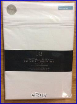 M&S White Double Duvet & Fitted Sheet 600 Thread Count Bed Set