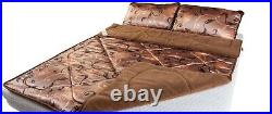 Merino Bedding Set Wool & SATIN Bed Duvet / Quilt Double Size+ 2 Bed PILLOWS