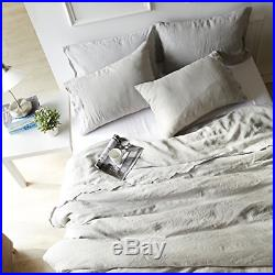 Merryfeel 100% Linen Embroidery Lace Vintage Washed Duvet Cover Set Double Set