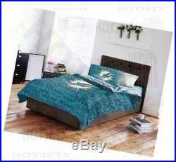 Miami Dolphins Bedding Set Full NFL Football Bed Pillow Jersey Superbowl Hd Tv