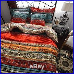 Moroccan Bohemian 100% Cotton Quilted Double Size Duvet Cover Set Ethnic Exotic