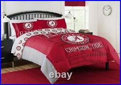 NCAA Alabama Crimson Tide Full/Queen Comforter with Pillow and Full Sheet Set