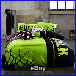 NEW Bedding set Hulk glow Super Heroes series bedclothes luminous duvet cover